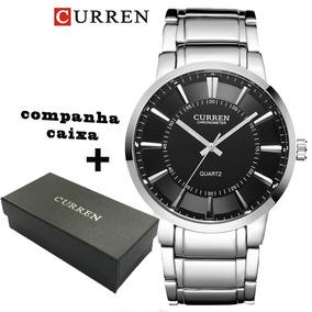 Relógio Curren 8001b Masculino Social De Aço Inox,quartzo