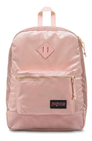 Mochila Jansport Super Fx Rose Smoke Gold