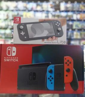 Nintendo Switch 2019 + 4 Juegos Y Estuche
