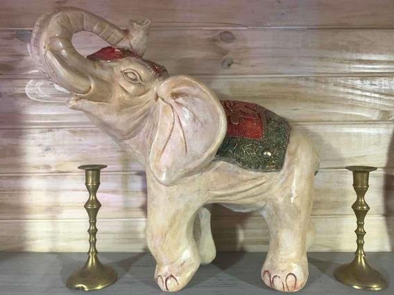 Elefante Hindu Figura Yeso Artesanía Decoración