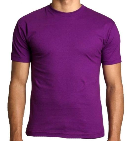 Kit Com 03 Camisa Slim Fit Camiseta Básica Lisa Ref:107