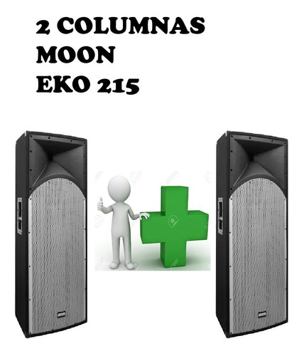 2 Bafles Dobles De 15   Moon Eko 215 400w Rms - Fervanero