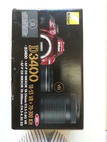 Camera Nikon D 3400 Nova Vermelha