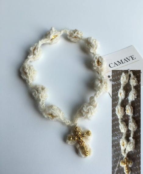 Denario Camave Crochet Artesanal Natural Y Dorado Souvenir