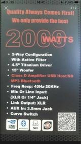 Caixa Blg Profissional 2000wats Super Conservada