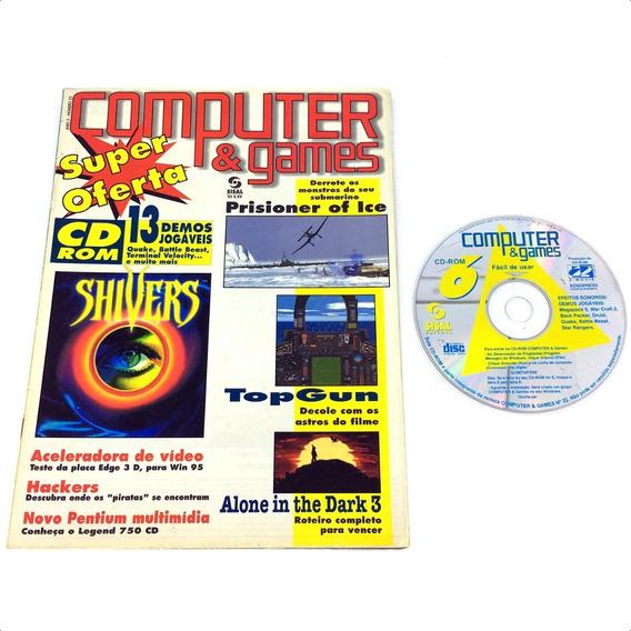 Computer E Games Edição Nº 22 Revista C/ Cd-rom - Abril 1996