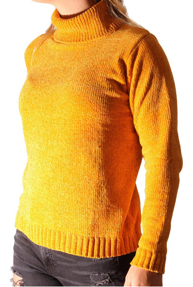 Sweater Polera Mujer Importado Chenille Pixxel Campeche