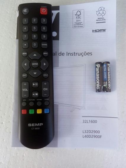 Kit Controle Semp Ct6800 + Pilhas E Manual L32d2900 L40d2900