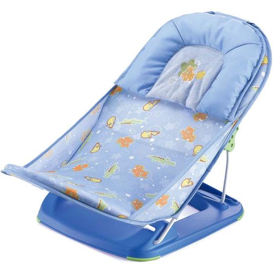 Assento Para Banheira Flexível Animais Azul - Mastela
