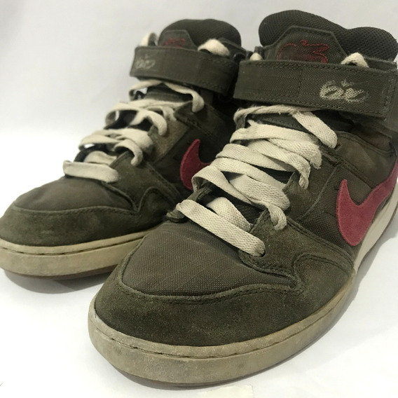Zapatillas Nike High Tops 6.0 Verde Velcro Abrojo Talle 39