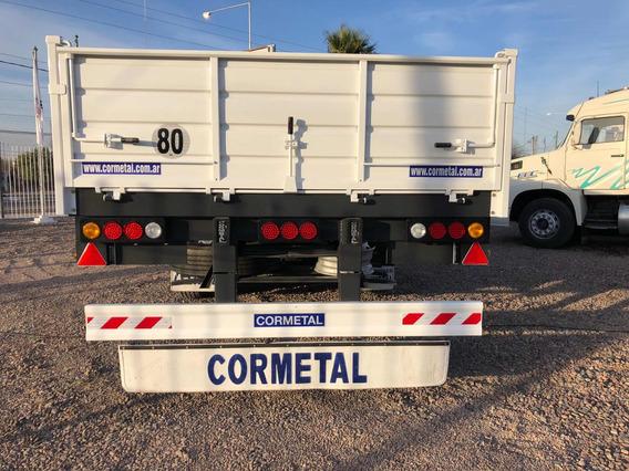 Semirremolque Cormetal Okm,14,40mts,ejes 2+1.anticipo Y Cheq