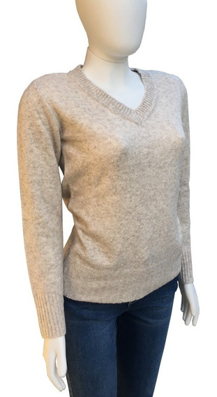 Blusa Básica Tricô Ana Hickmann 572 Tricot Chic Decote V