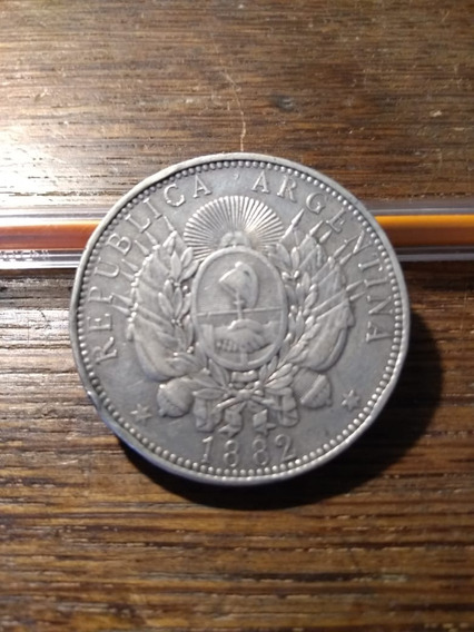 1 Peso Patacon Año 1882 Antigua Moneda De Plata