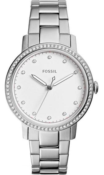Relógio Fossil Feminino Ref: Es4287/1kn Slim Prateado