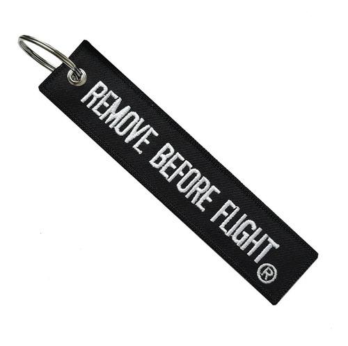 Llavero  Clásico Color Negro Remove Before Flight ®