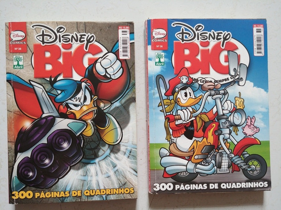 Almanaque Especial Gibis Disney Big N° 36 E 38 Com 300 Pagin