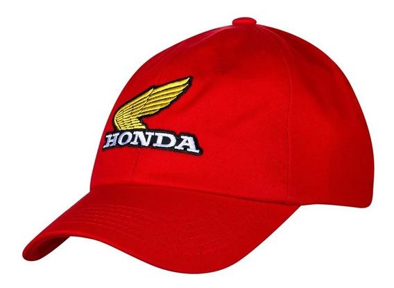 Boné Moto Honda - Bordado - Vermelho - Coleção Vintage