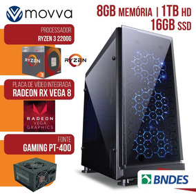 Computador Gamer Amd Ryzen 3 2200g 3.5ghz 8gb Hd 1tb