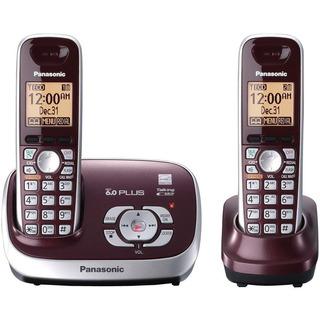 Telefono Inalambrico Con Identificador 2 Panasonic Rojo