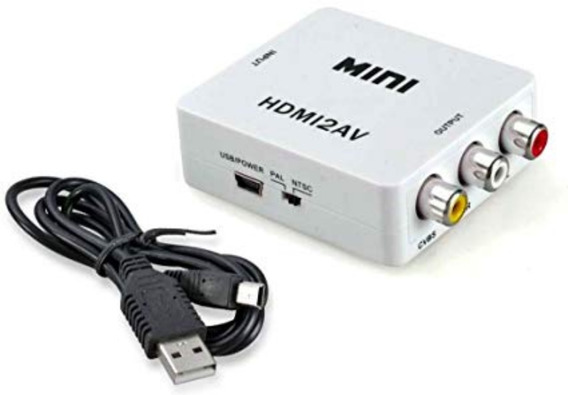 Conversor Hdmi A Rca Video Noteboook Proyector Tv Tubo 1080p