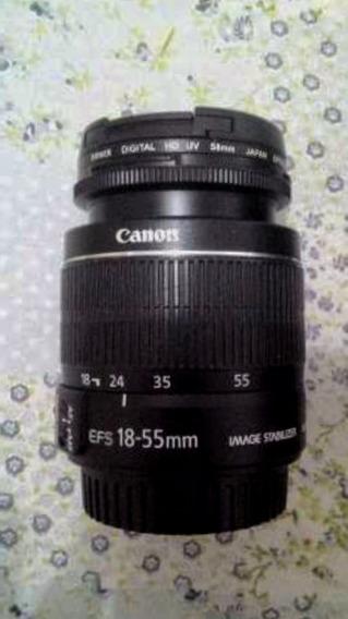 Lente Canon 18-55mm Com Filtro E Tampas