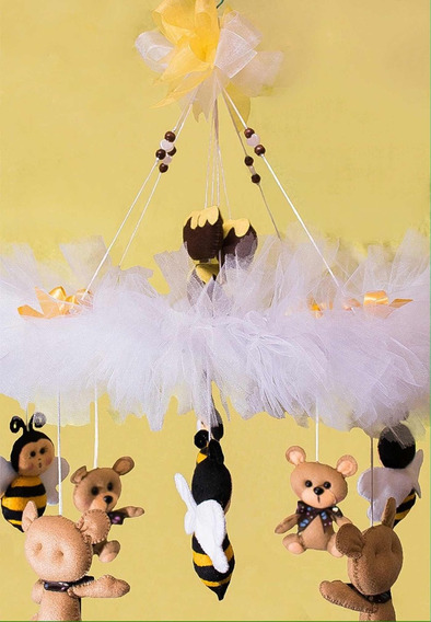 Móvil De Bebé Regalo Baby Shower Changos Abejas