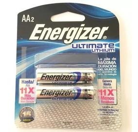 Pilha Aa 1,5v Ultimate Lithium Energizer - Cart. C/ 2 Pilhas