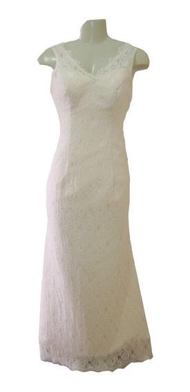 Vestido De Noiva Salmão 36 38 40 - Fotos Reais - Vn00163