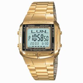 Relógio Casio Db-360-avdf Dourado Na Caixa Unissex Digital