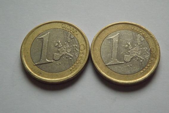 2 Moedas 1 Euro 2001 E 2002