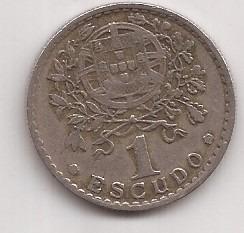 Portugal Moneda De 1 Escudo Año 1951 !!