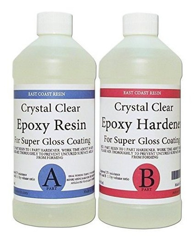 Epoxy Resin Crystal Clear 8 Oz Kit Para Recubrimiento Super