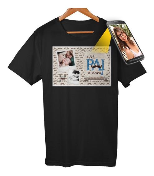 Camiseta Com Qr Code Personalizada Selfmania Dia Dos Pais