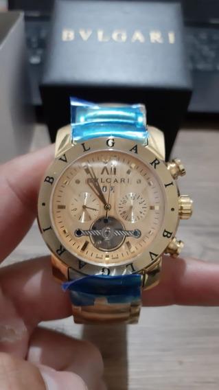 Relógio Dourado Mecânico Pesado Com Frete Grátis