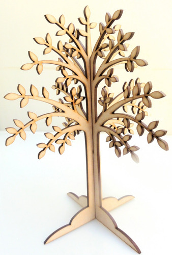 Imagen 1 de 7 de Árbol Con Hojas 24cm - Encastre -  Mdf / Fibrofacil