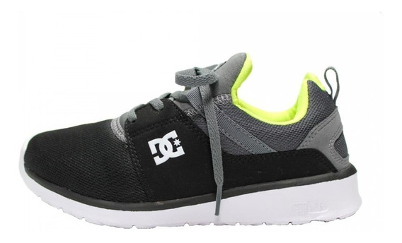 Tênis Dc Shoes Heathrow Cinza E Verde 10722 Original