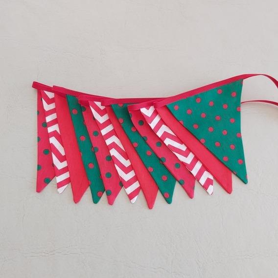 Banderines Tela Doble 10 Metros Navidad Navideños Temáticas