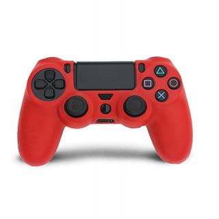 Funda Protectora Silicona Para Control Ps4 Rojo Phone Store