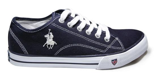 Tenis Zapato Dama Mujer Cw-801-03 Polo Club Rcb Azul Marino