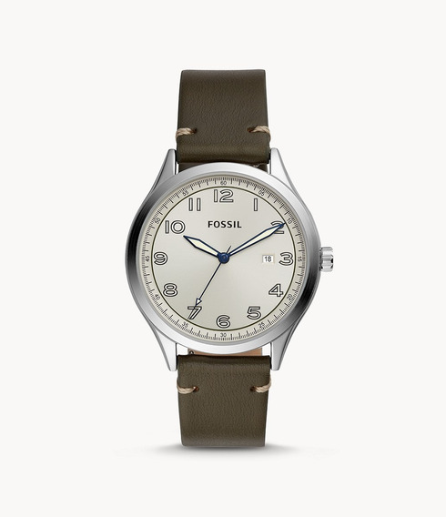 Reloj Fossil Wylie Three-hand Grey Leather 100% Original
