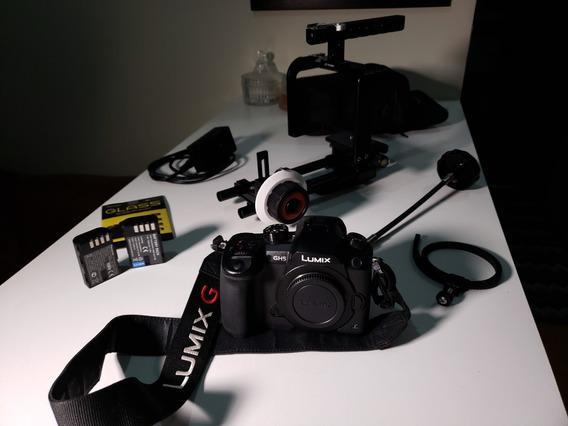 Panasonic Lumix Gh5 + Cage + Follow Focus + Acessórios