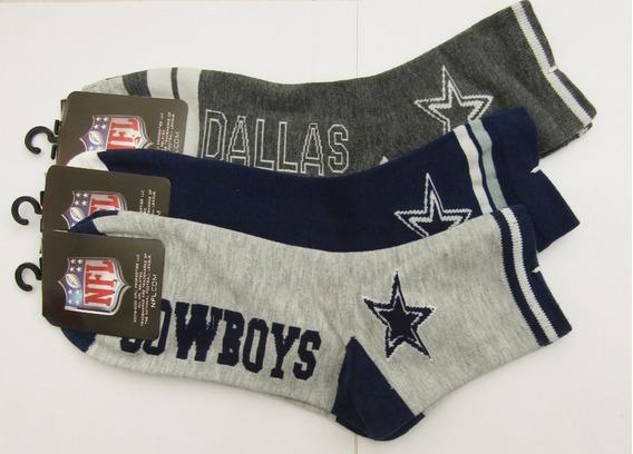 Lote 3 Pares Calcetas Nfl/ Dallas Cowboys