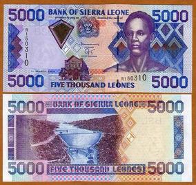 Serra Leoa 5000 Leones 2006 P. 27c Fe Cédula - Tchequito