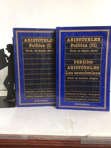 Política, Aristóteles, Traducción De Simón Abril, Dos Tomos
