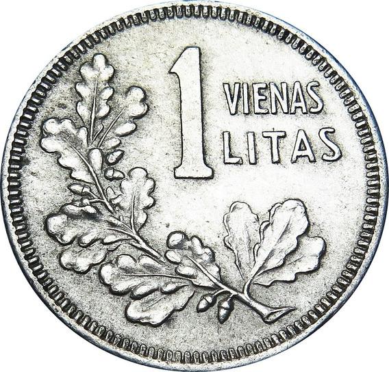 .: Lituania 1 Litas 1925 - Plata - Escasa :.