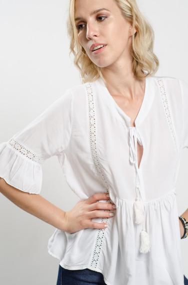 Camisola De Mujer 3/4 Con Puntillas Soho Modelo Humma