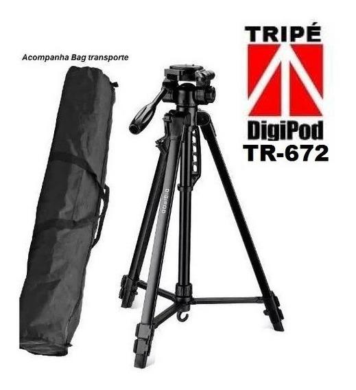 Tripé Fotografico DigiPod Tr 672 Robusto P/dslr Nikon-canon