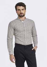 Camisa Slim -estampada Zafferano