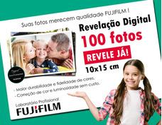 Revelação De 100 Fotos Digitais 10x15 C/ Qualidade Fujifilm