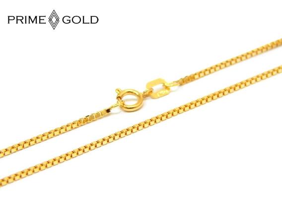 Corrente Em Ouro 18k Feminina Veneziana 40cm 0,95mm